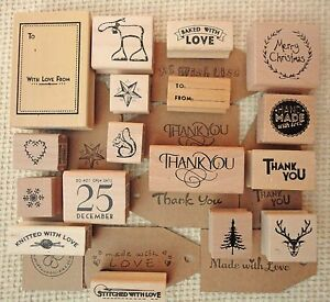 Rubber Stamps for Christmas Cards Gift Tags Scrap-booking ...