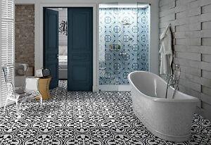 Image Is Loading Paris Grey Moroccan Victorian Vintage Porcelain Indoor Outdoor