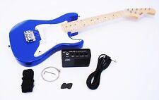 1/2 Kinder E-Gitarre Set mit Verstärker und Zubehör, blau