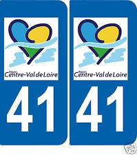 2 autocollants Style plaque immatriculation auto Département 41