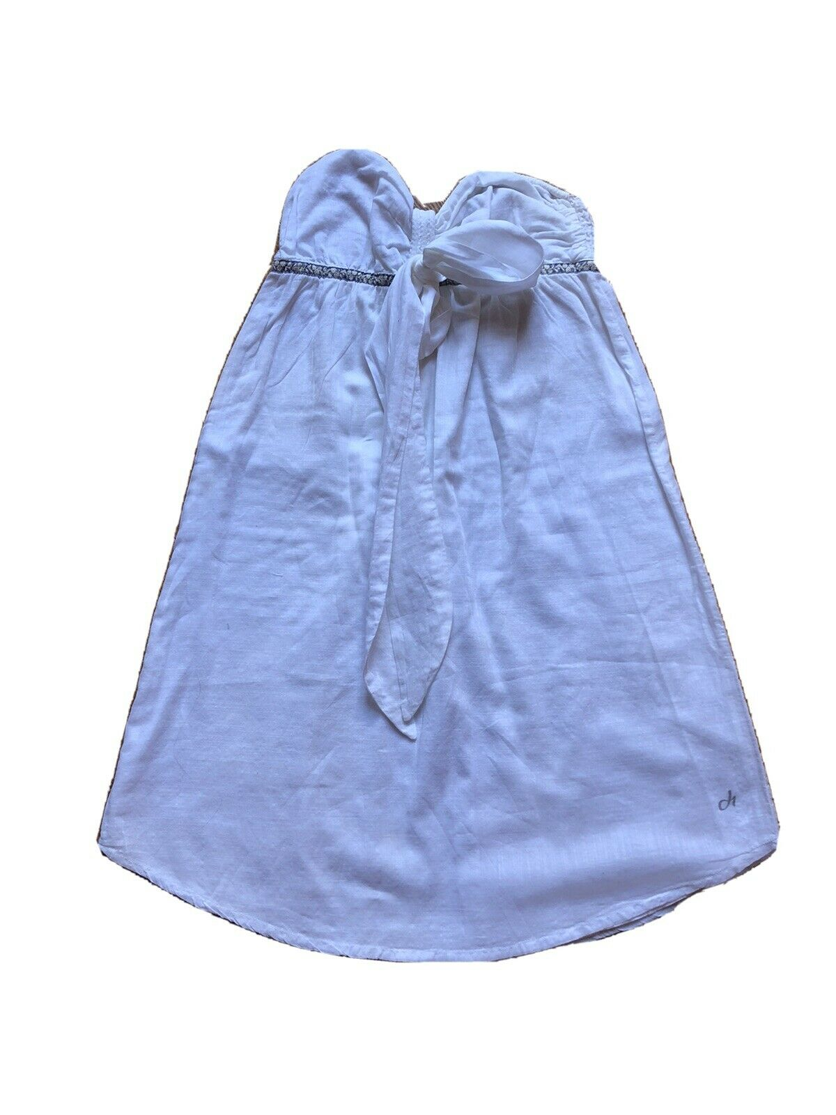 Deha Kleid 36 Schneeweiss Strandkleid 100 % Baumwolle