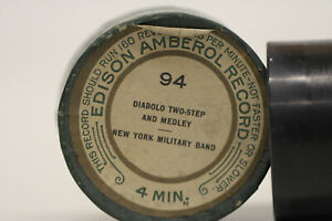 EDISON Ambererol Walze 94 Diabolo Two - Step and Medley New York Military Band