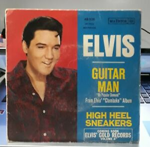 ELVIS-PRESLEY-SP-GUITAR-MAN-RCA-FRANCE-BLUE-LABEL-1968