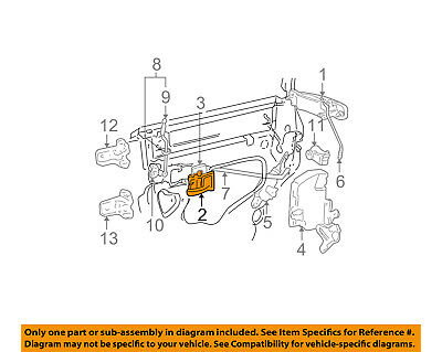 Lincoln FORD OEM 03-11 Town Car-Interior Inside Door Handle Right ...