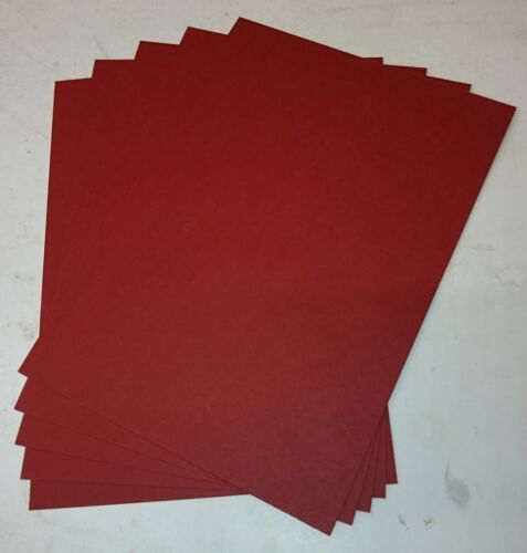 A5 1-500 CRIMSON RED 220GSM CARD PLAIN SHEETS COLOURED CRAFT CARD STOCK