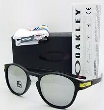 8693cb2b68 NEW Oakley Latch Sunglasses Black Chrome Iridium 9265-21 AUTHENTIC OO9265  Rossi