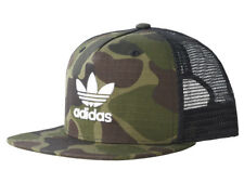 4f361117d5c Adidas Originals Mens Camo Baseball Trucker Mesh Flat Brim Cap Trefoil Hat  NEW