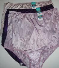 a302da72197 3 Vanity Fair Brief Panty Set Nylon Lace Nouveau Perfectly Yours 9 2XL  Purple