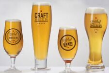 Craft Beer Glasses Logo 2 Pint 2 Half Pint Brewery Ale Cider Larger Glass 4 Pack