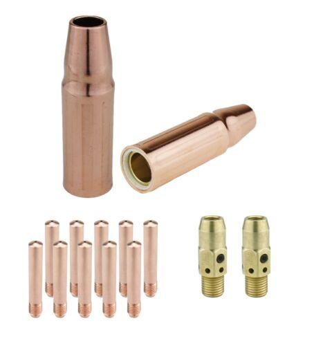 23 Nozzle Tweco #3/-54A Diffuser+Tip MIG Gun Parts for LIN 300/&400