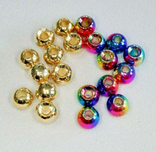 Fliegenbinden TUNGSTEN Perlen Beads,10 St Gold /& Rainbow 2,8//3,3//3,5//3,8//4,0mm