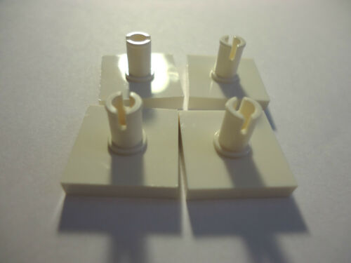 2 x 2 WHITE  MODIFIED TILE WITH PIN x 4 PART 2460