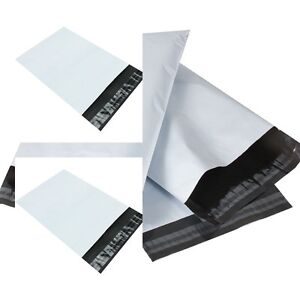 NEW-WHITE-Plastic-Strong-Packaging-Postal-Polythene-Mailing-Bag-10-Sizes-UK