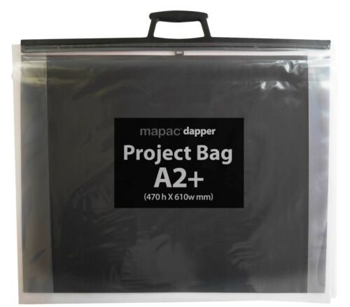 dapper  Project Bags with ACID-FREE Black inserts SOLD IN PACKS of 2 MAPAC