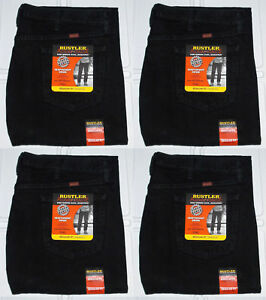 Rustler By Wrangler Men's Regular Fit Straight Leg Black Heavyweight Denim Jeans
