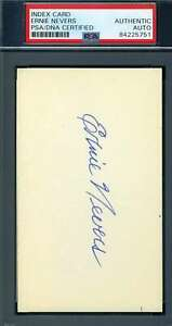 Ernie Nevers PSA DNA Coa Autograph Hand Signed 3x5 Index Card