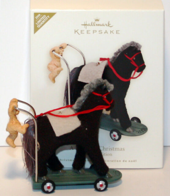 2008 A PONY FOR CHRISTMAS Limited Colorway NEW Hallmark Repaint Ornament HORSE