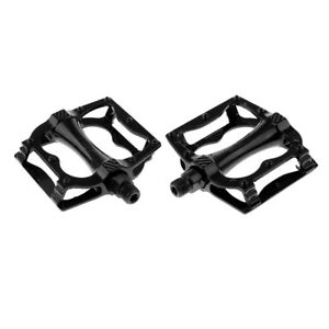 Road-Mountain-Bike-Platform-Pedals-Flat-Aluminum-Sealed-Bearing-9-16-034-Black