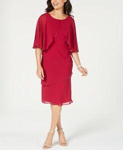 Slny Women's Tiered Capelet Dress Size 4 $119.00