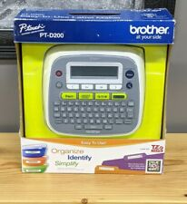 Brother Model Pt D200 P Touch Electronic Labeling System Brand New