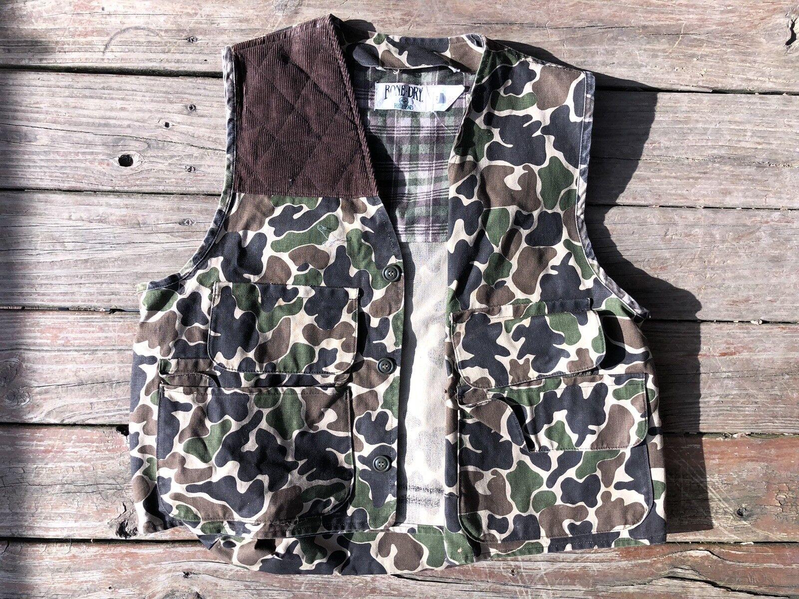 Red Head Bone Dry Bubble Camo Shooting vest XL- Vest Cut VTG Hiking Outdoor EUC