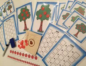 100% Vrai Les Pommes Dans Les Arbres Learning Pack Nombre D'obligations Addition Soustraction Jeux-afficher Le Titre D'origine Beau Lustre