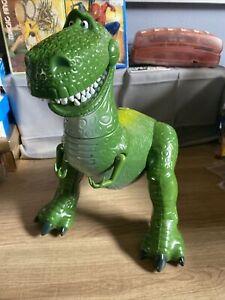 "Pixar Disney Store Large 12"" Talking Rex Deluxe Dinosaur Figure Toy Story"