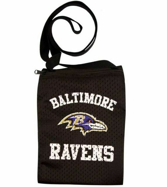 Baltimore Ravens NFL Game Day Pouch Jersey Purse Set of 2 Black