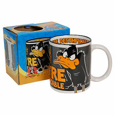 DAFFY DUCK CARTOON MUG Black Orange LOONEY TUNES CARTOON Coffee Cup Kitchen Home