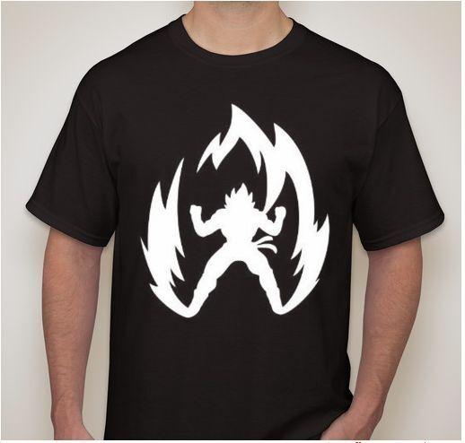 XXL Black DBZ Dragon Ball Z Super Saiyan anime T-shirt  t shirt