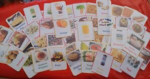 Food-Flash Cards-besoins spéciaux/shopping Game/EYFS/gardienne - 50 ou 100  </span>