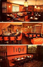 MANCHESTER N.H. Hanover Street Chateau Restaurant Multi-View Postcard ~1960