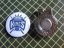 GOLF / Sacramento Kings Logo Golf Ball Marker/with Magnet Hat Clip New!!