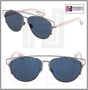 9152500b93c5 Image is loading CHRISTIAN-DIOR-TECHNOLOGIC-Ruthenium-Pink-Blue-Flat- Sunglasses-