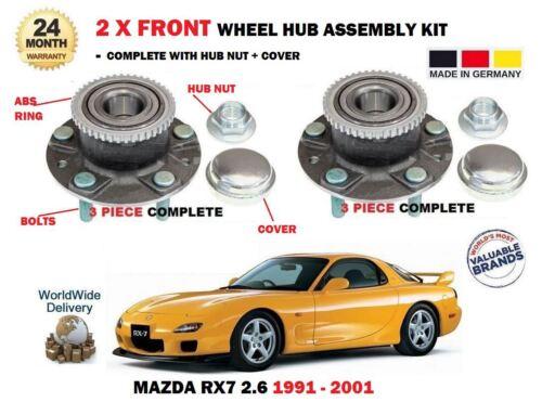FOR MAZDA RX7 2.6 TWIN TURBO 1991-2001 NEW 2 X FRONT WHEEL BEARING HUB KIT