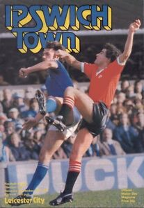 Ipswich Town v Leicester City Official Football Programme  November 15 1980 - Broadstairs, United Kingdom - Ipswich Town v Leicester City Official Football Programme  November 15 1980 - Broadstairs, United Kingdom