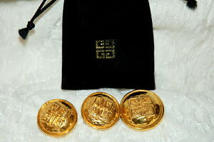 GivenchyStunning, Vintage, Rare Brooch & CLIP-ON Earrings Set GOLD TONE