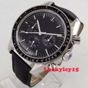 Luxury-40mm-BLIGER-black-dial-date-week-Multifunctiom-Automatic-men-039-s-watch-215