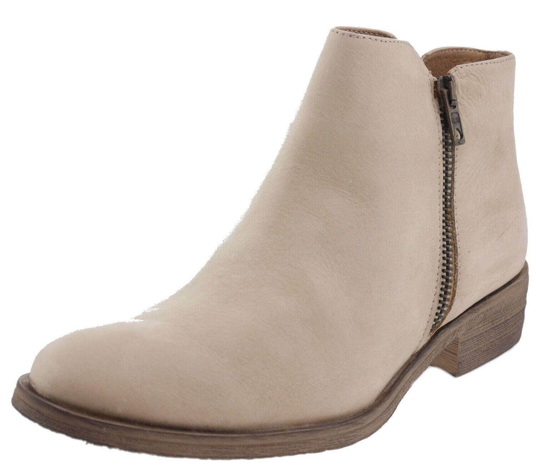Giorgio picino visone botines de cuero beige 187581