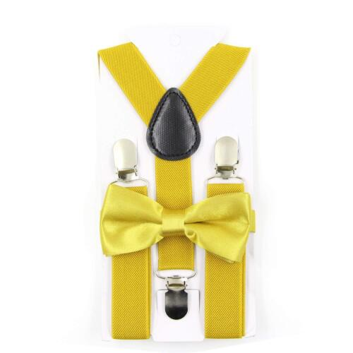 New Suspender and Bow Tie Sets for Boys Girls Kids Child Children Ship from USA