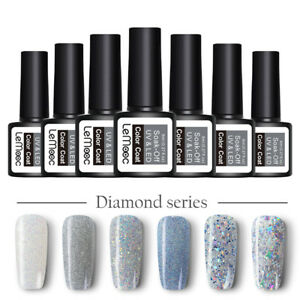 8ml LEMOOC Glitter UV Gel Nail Polish Soak Off UV Gel Nails Manicure 80 Colors