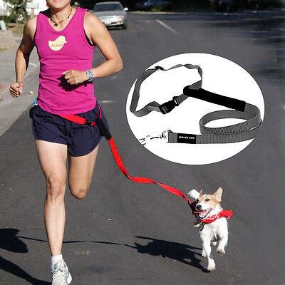 Pet Dog Walking Leash Hands Free Leash Dog Running Jogging Waist belt Adjustable