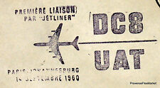 1960 DC8 UAT PARIS JOHANNESBURG  Airmail Aviation premier vol AC01
