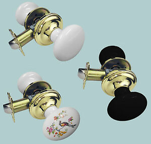 Ceramic/Brass Passage Door LOCK Knob Set for Entrance Privacy Bathroom Bedrooms