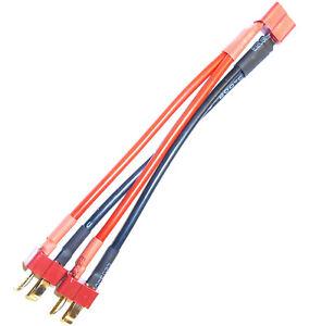 Utile C8023 Prise-t Rc Batterie 2s De Recharge Harnais Parallèle 14 Awg 10cm Paquet éLéGant Et Robuste