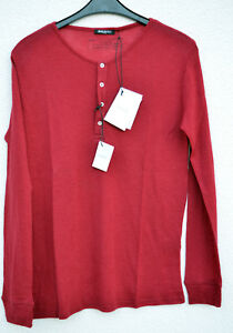 Authentic-New-Balmain-Paris-Henley-Tee-Pullover-Sweater-Knit-Wool-Red-L-Large