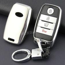 Smart Key Chain Fob Cover Case For Kia Sorento Optima Sportage Sedona Silver Fits More Than One Vehicle