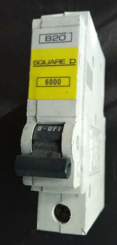 16A 6A tipo B 6K BSEN 60898. SQUARE D QoE S.P Reja de desminado 63A 10A 32A 20A