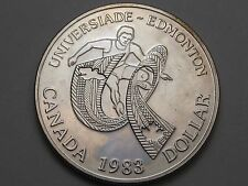 BU-PL 1983 Silver Canadian Dollar. World University Games. CANADA (Spots).  #34