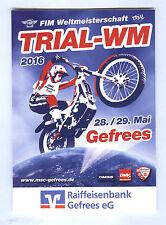 Aufkleber Trial-WM FIM Weltmeisterschaft Trial Gefrees Bayern